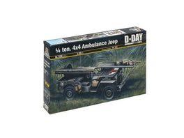 Italeri 326 Militaerfahrzeuge 1 35 1 4 Ton 4x4 Krankenwagen Jeep