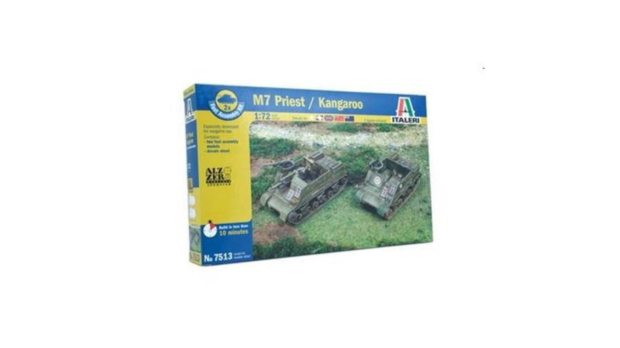 Italeri 7513 Schnellbausatz Militaerfahrzeuge 1 72 US M7 Priest 105mm Kang Fa Ass Kit