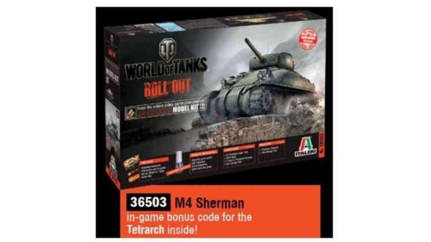 Italeri 36503 World of Tanks US M4 Sherman WoT