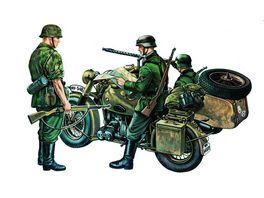 Italeri 315 Militaerfahrzeuge 1 35 Bmw 75 mit Beiwagen