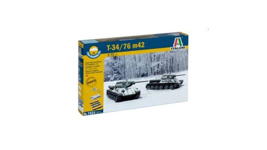 Italeri 7523 Schnellbausatz Militaerfahrzeuge 1 72 T 34 76 m42 2 F A