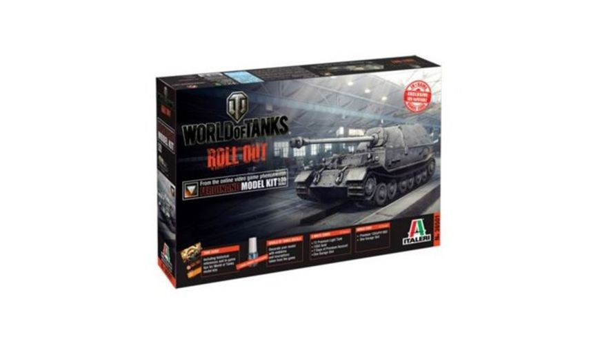 Italeri 36501 World of Tanks 1 35 Panzerjaeger Ferdinand WoT