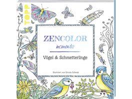 Zencolor moments Voegel Schmetterlinge Ausmalbuch fuer Erwachsene