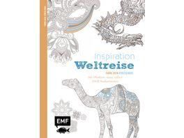 Inspiration Weltreise Ausmalbuch fuer Erwachsene