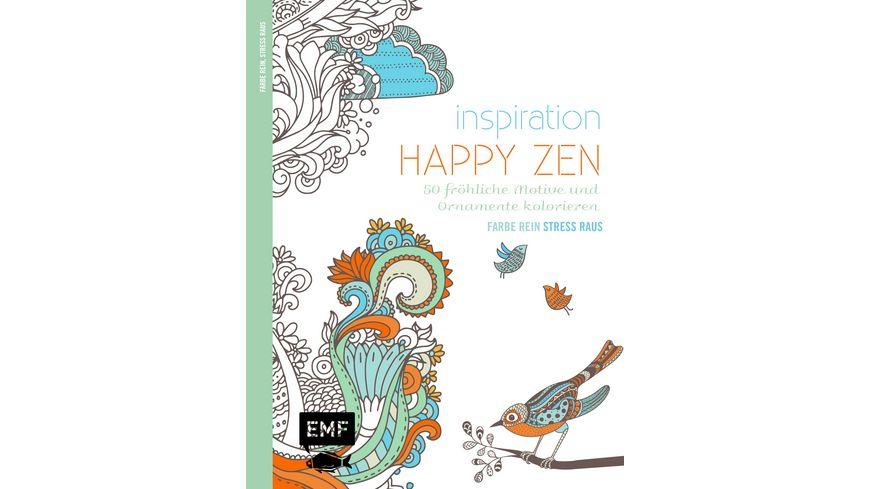 Inspiration Happy Zen Ausmalbuch fuer Erwachsene