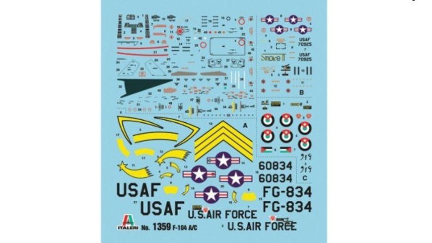 Italeri 1359 Flugzeuge 1 72 F 104 A C Starfighter