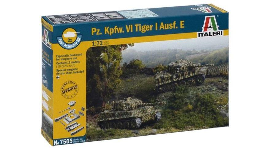 Italeri 7505 Schnellbausatz Militaerfahrzeuge 1 72 Pz kpfw vi Tiger Ausf