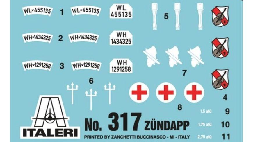 Italeri 317 Militaerfahrzeuge 1 35 Motorrad Gespann Zuendapp KS750