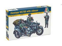 Italeri Motorrad Gespann Zuendapp KS750