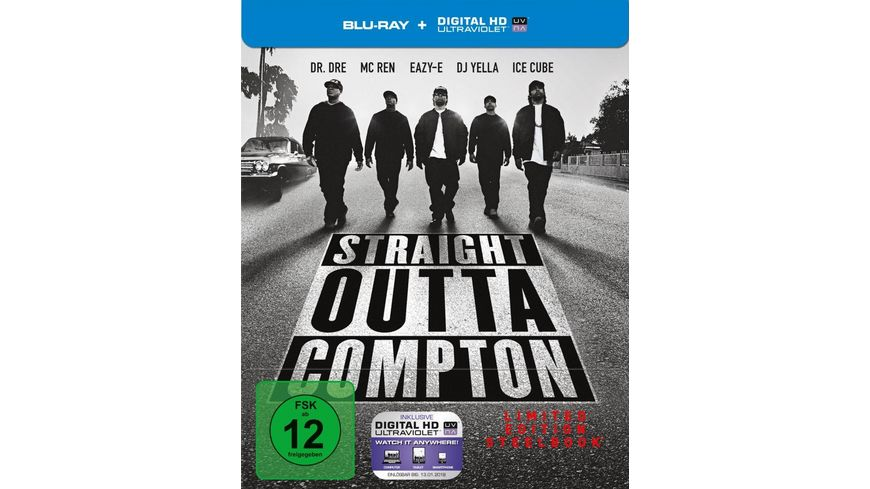 Straight Outta Compton Director s Cut Limited Steelbook Edition Blu ray Disc