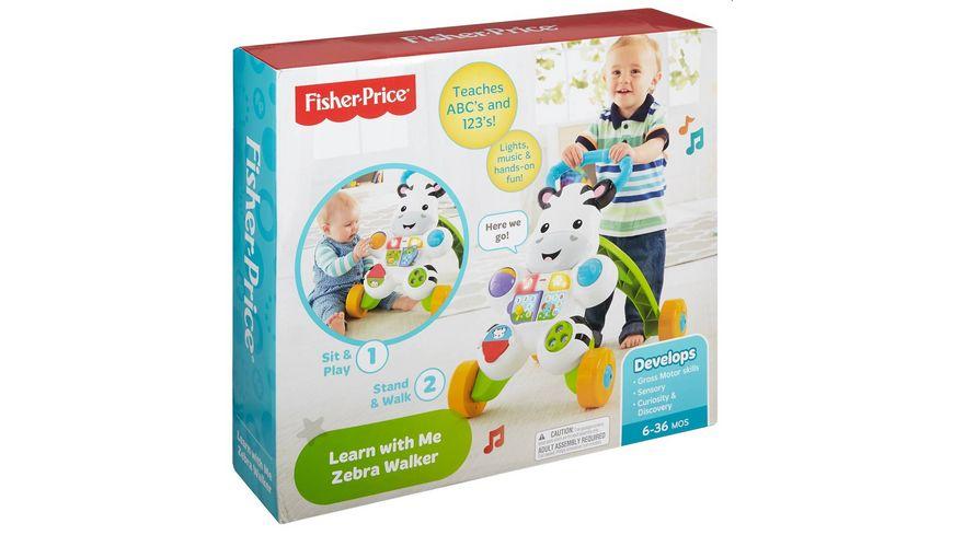 Fisher Price Lern mit mir Zebra Lauflernwagen