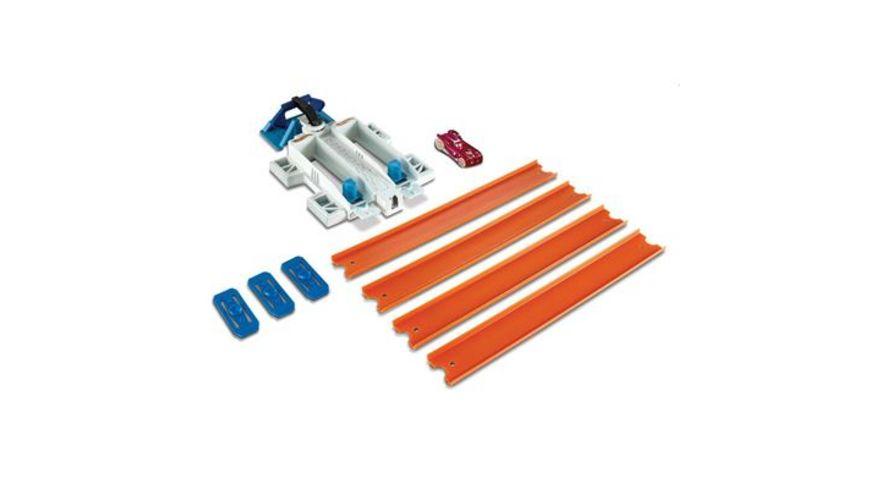 Mattel Hot Wheels Track Builder Basis Set mit Fahrzeug sortiert