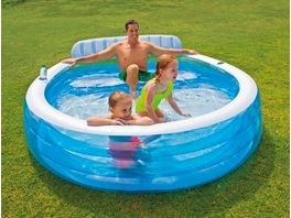 Intex Schwimm Center Family Lounge Pool mit Sitzbank 224 x 216 x 76 cm