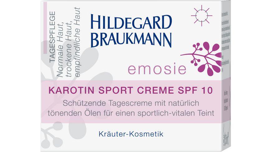 HILDEGARD BRAUKMANN emosie Karotin Sport Creme SPF 10