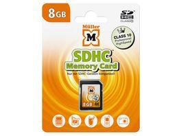 Mueller SDHC Karte 8GB Class 10