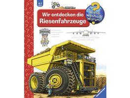 Ravensburger Buch Wieso Weshalb Warum Wir entdecken die Riesenfahrzeuge