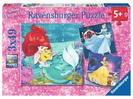 Ravensburger Puzzle Abenteuer der Prinzessinnen 3x49 Teile
