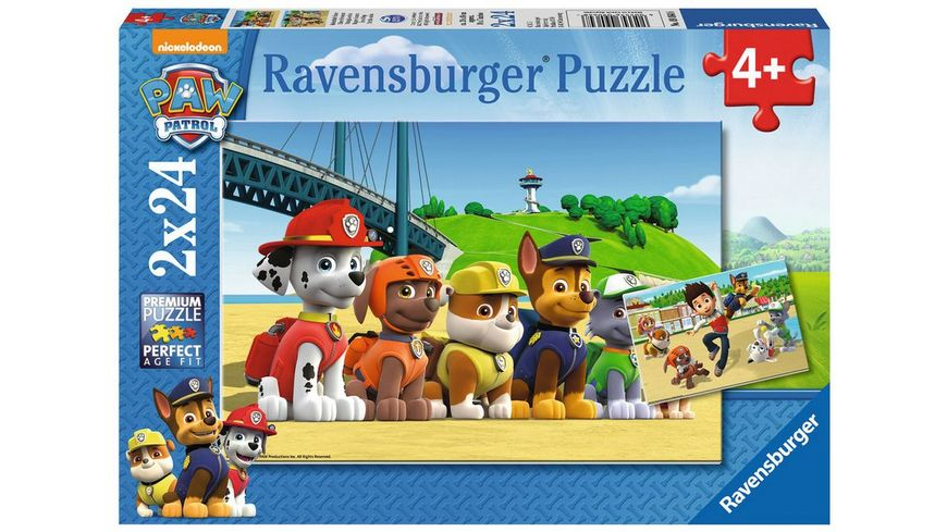 Ravensburger Puzzle PAW PATROL Heldenhafte Hunde 2 x 24 Teile