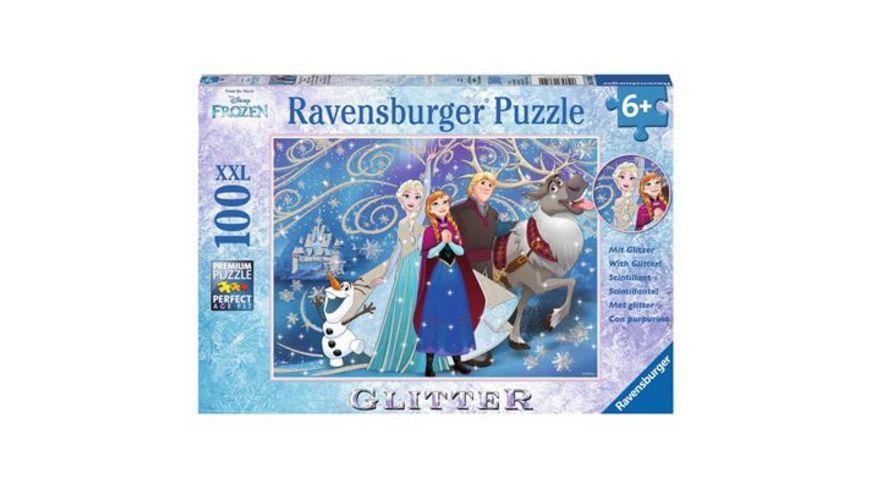 Ravensburger Puzzle Glitzerpuzzle Frozen Glitzernder Schnee 100 Teile