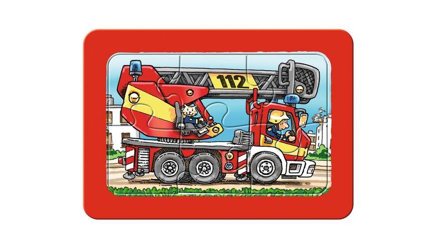Ravensburger Puzzle Rahmenpuzzle Feuerwehr Polizei Krankenwagen 3 x 6 Teile