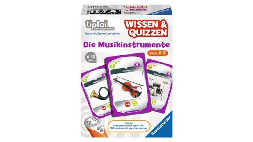 Ravensburger tiptoi Wissen Quizzen Die Musikinstrumente
