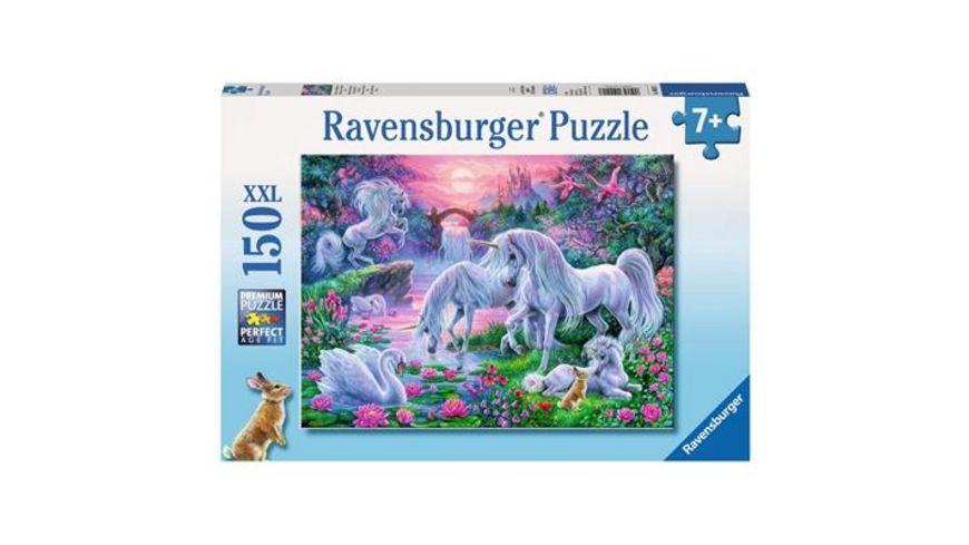 Ravensburger Puzzle Einhoerner im Abendrot 150 XXL Teile