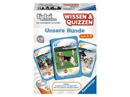 Ravensburger tiptoi Wissen Quizzen Unsere Hunde