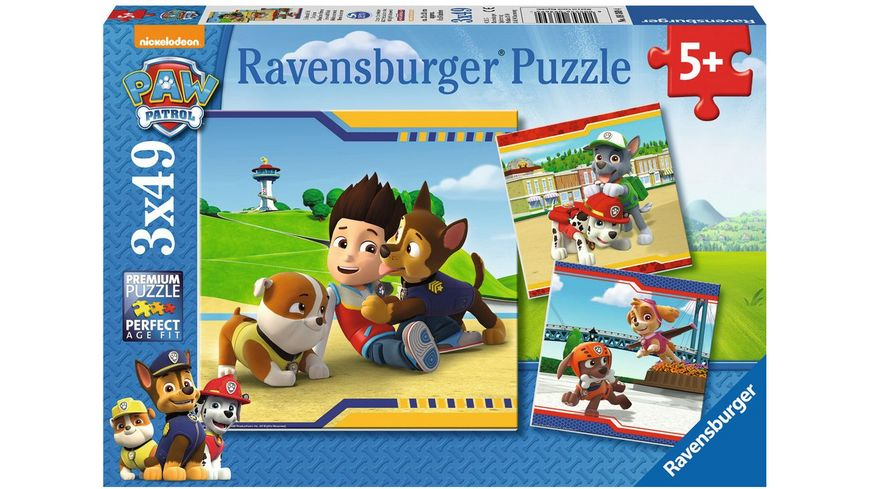 Ravensburger Puzzle Helden mit Fell 3x49 Teile