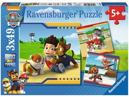 Ravensburger Puzzle PAW PATROL Helden mit Fell 3 Motive 49 Teile