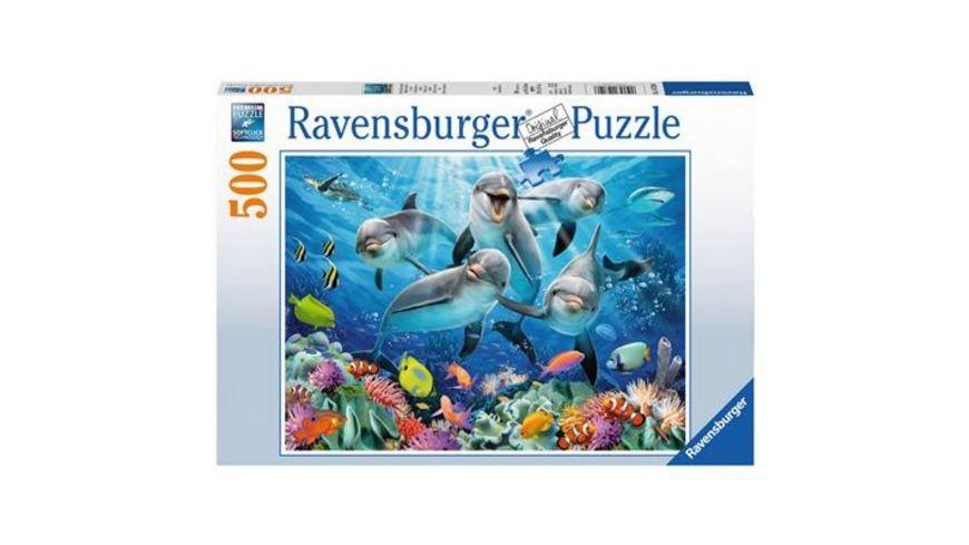 Ravensburger Puzzle Delfine im Korallenriff 500 Teile