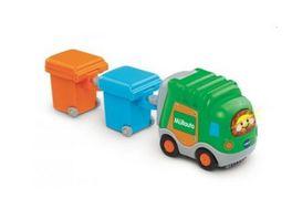 VTech Tut Tut Baby Flitzer Muellauto und 2 Muelltonnen