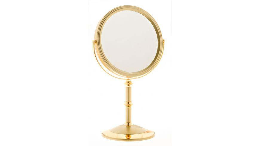 Standspiegel 7 fach Vergroesserung gold
