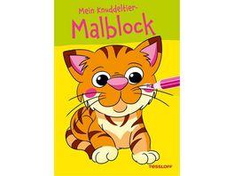 Tessloff Malen und Raetseln und mehr Malen Mein Knudddeltier Malblock Tiger