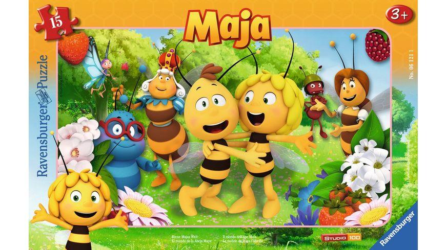 Ravensburger Puzzle Rahmenpuzzle Biene Majas Welt 15 Teile
