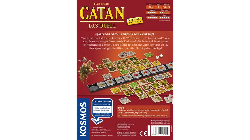 KOSMOS Catan Das Duell Spiel mit Karten fuer Zwei
