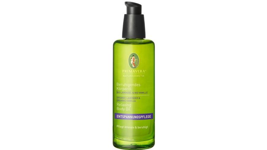 PRIMAVERA Beruhigendes Koerperoel Bio Lavendel Bio Vanille
