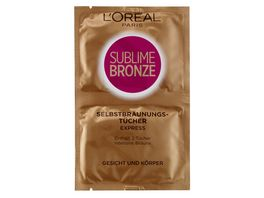 L OREAL PARIS SUBLIME BRONZE Express Selbstbraeunungstuecher