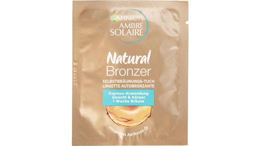 GARNIER Ambre Solaire Natural Braeuner Gesichts Selbstbraeunungstuch
