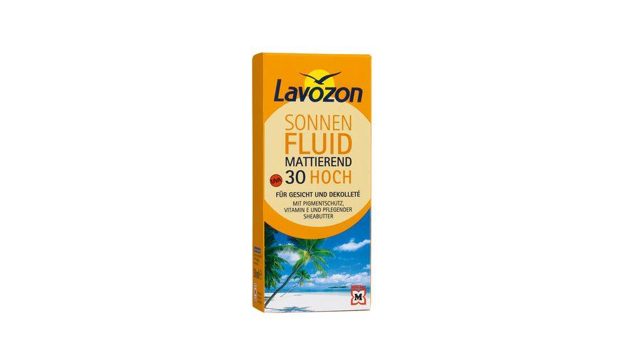 Lavozon Sonnenfluid mattierend Gesicht LSF 30