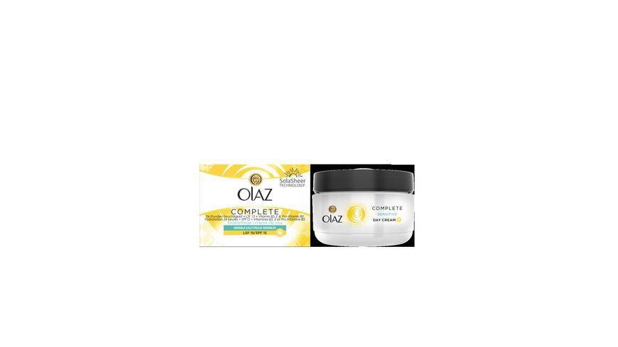 OLAZ Complete Tagescreme Hautpflege mit LSF15 fuer sensible Haut