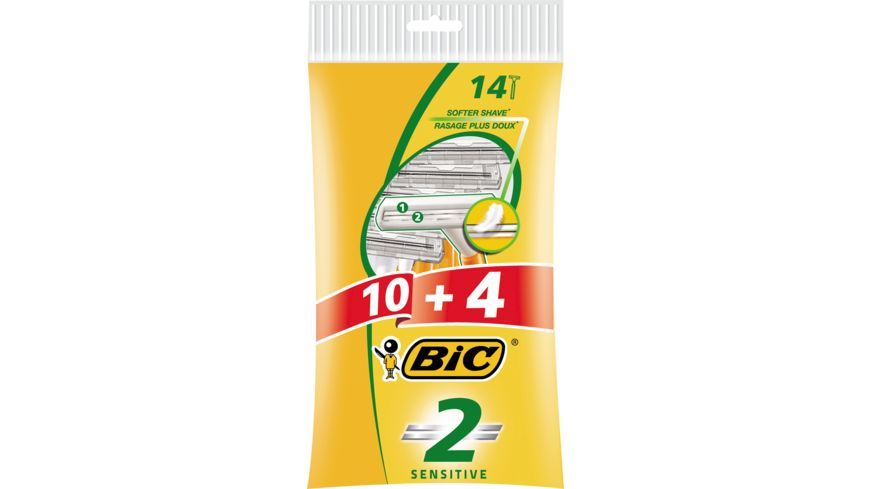 BIC 2 Rasierer Sensible Haut 10 4 Stueck