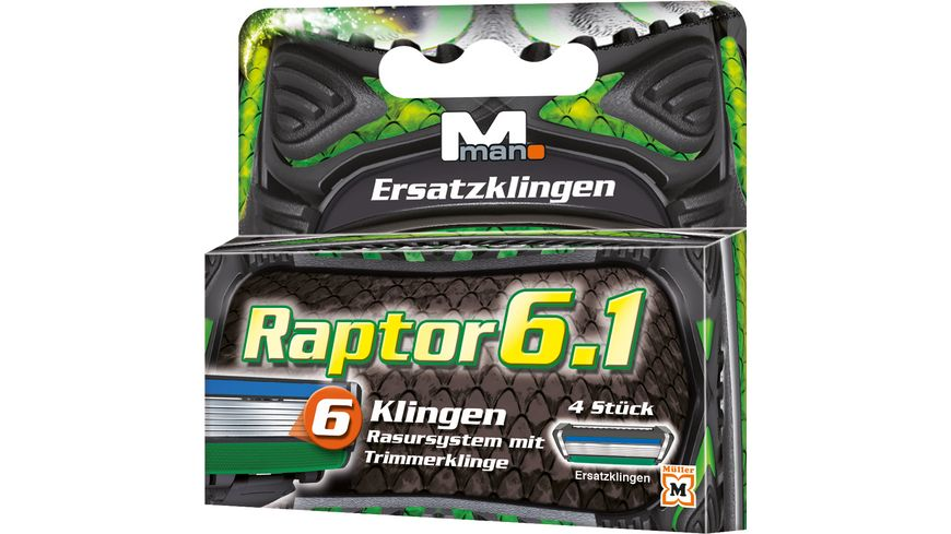M.man Raptor 6.1 Ersatzklingen online bestellen | MÜLLER