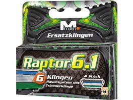 M man Raptor 6 1 Ersatzklingen