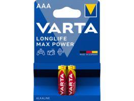 VARTA LONGLIFE Max Power Alkalinebatterie Micro AAA 1 5V 2 Stueck