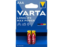 VARTA MAX TECH Alkalinebatterie Micro AAA 1 5V 2 Stueck