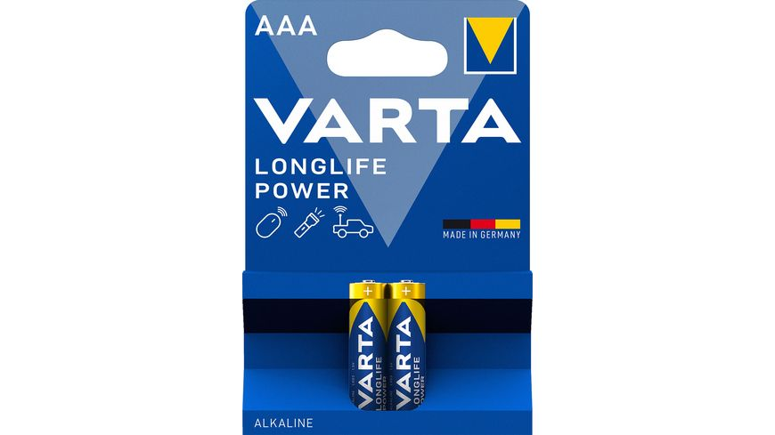 VARTA LONGLIFE Power Alkalinebatterie Micro AAA 1 5V 2 Stueck