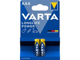 VARTA HIGH ENERGY Alkalinebatterie Micro AAA 1 5V 2 Stueck
