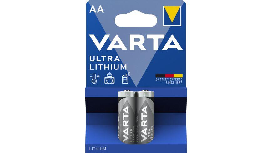 VARTA ULTRA LITHIUM Lithiumbatterie Mignon AA 1 5V 2 Stueck