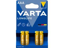 VARTA LONGLIFE Alkalinebatterie Micro AAA 1 5V 4 Stueck