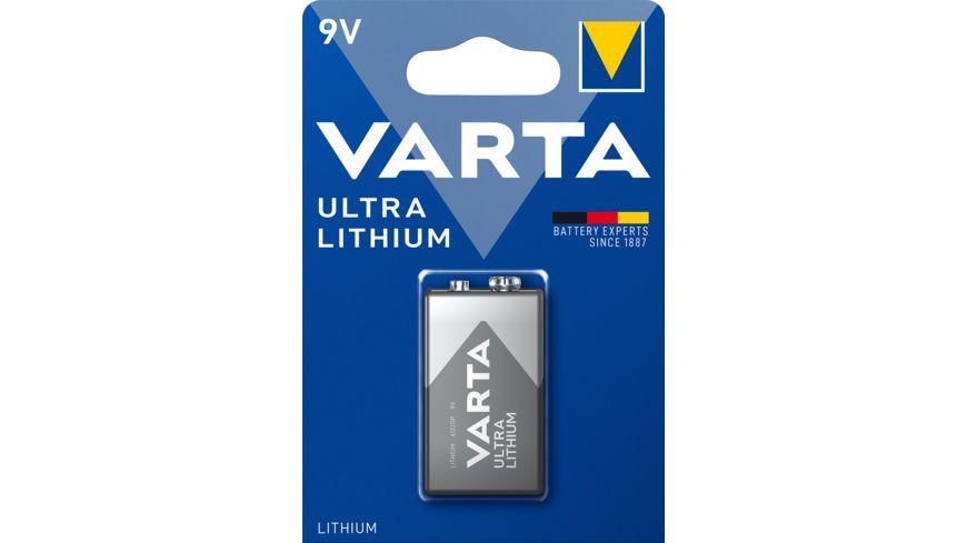 VARTA ULTRA LITHIUM Lithiumbatterie E Block 9V 1 Stueck
